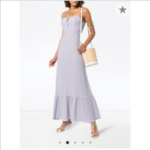 Reformation Lilac/White Prairie Dress (US4)